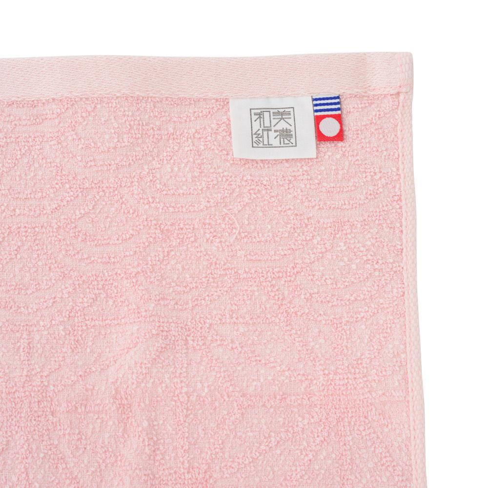 凛彩 美濃和紙タオル 花麻ピンク